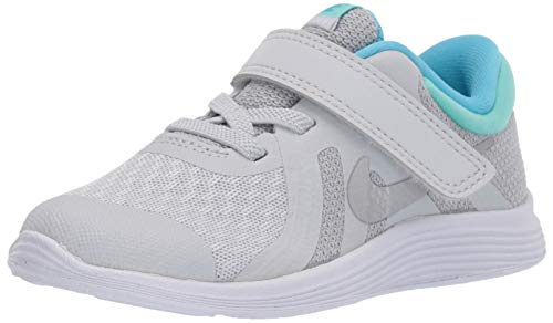 (Nike Girls Revolution 4 (TDV) Sneaker, Pure Platinum/Metallic Silver, 5C Toddler US Toddler)