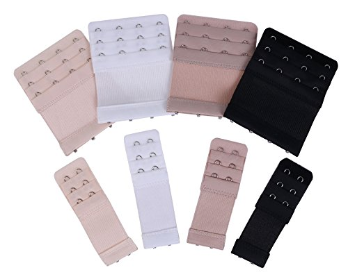 Lowest Prices! Shapenty 4 Colors 3 Row Women's Bra Extender Set Elastic Back Bra Extension Band St...