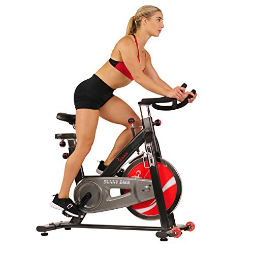 Sunny Health & Fitness Spin Bike Chain Drive Indoor Cycle Exercise Bike - SF-B1002C