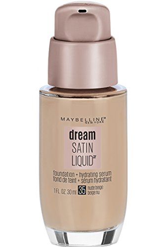Maybelline New York Dream Satin Liquid Foundation (Dream Liquid Mousse Foundation), Nude Beige, 1 fl. oz. (Best Foundation For 60 Year Old Skin)
