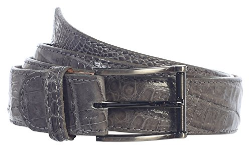 GIFT_Men's Premium Handmade Genuine Crocodile Leather Belt_MULTI COLORS (36, Gray) by 8 Moon