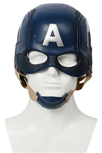 Traveller Captain America 3 Civil War Helmet Movie Cosplay Props for Adult, Navy Blue, one -