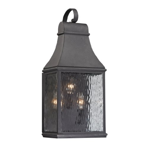 Forged Jefferson Collection 3 light outdoor sconce in Charcoal