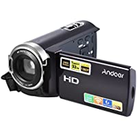 Andoer HDV-5052STR Upgraded Version 24Mega Pixels Digital Video Camera 1080P Full HD with Night-shot Digital Camcorder 3.0Inch Rotatable LCD Touch Screen 16× Digital Zoom Support HD and WiFi Output