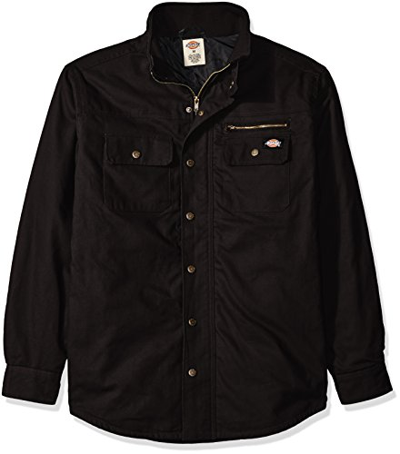 Dickies Men's Relaxed Fit Utility Quilted Shirt Jacket, Black, 3XL (Dickies Shirt Jacket For Men)
