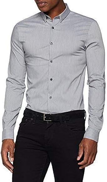New Look Muscle Fit Camiseta, Gris (Light Grey 2), 54 para ...