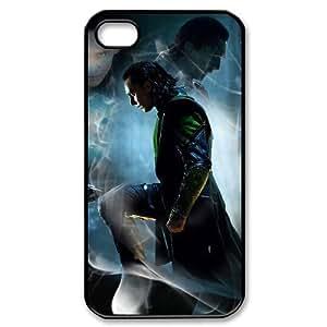 WJHSSB Customized Print Thor Loki Pattern Back Case for iPhone 4/4S