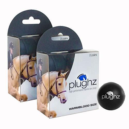 Plughz 2 Pack, 4 Pairs, Equine Ear Plug, XL Warmbllood Size (XL Horse Size)