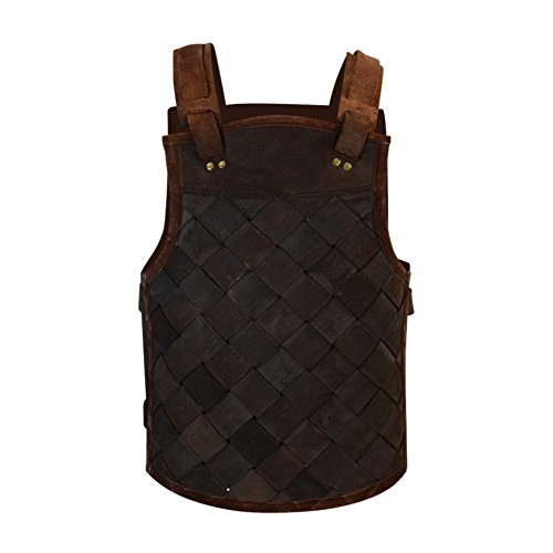 Armor Venue - RFB Viking Leather Armor - Adjustable Body Armour for Men and Women Brown Medium