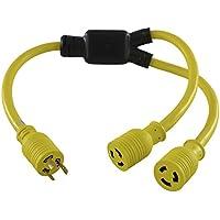 Conntek YL620L620 3FT Y 20 Amp Adapter Cord NEMA L6-20P to NEMA L6-20R 20 Amp 250-volt