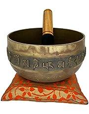 Nature's Own Cuenco tibetano budista para meditación – latón – 5.5 pulgadas – lado exterior