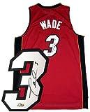 Dwyane Wade Signed Uniform - Red Swingman - Autographed NBA Jerseys