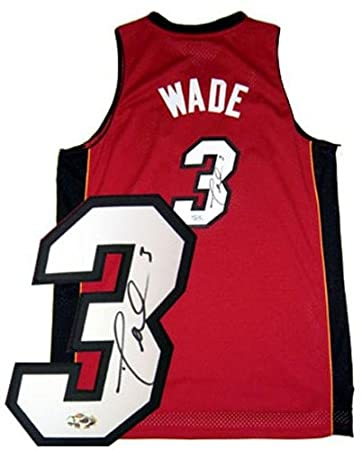 aaadff300 Dwyane Wade Signed Uniform - Red Swingman - Autographed NBA Jerseys ...