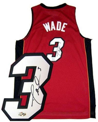 online store 8befe d128e Dwyane Wade Signed Uniform - Red Swingman - Autographed NBA ...