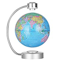 Levitation Floating Globe Magnetic Levitation Floating World Map Globe Levitating Globe with World Map and Constellation Home Office Decoration, Educational Geography Gift
