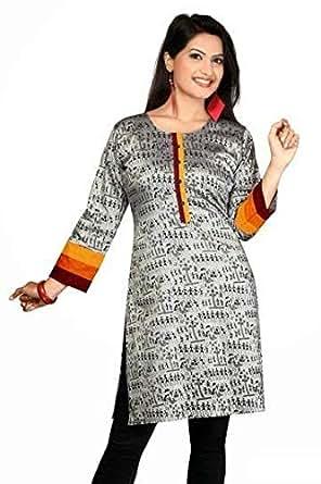 ClickonStyle Grey Casual Kameez & Salwar Set For Women