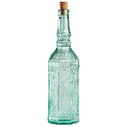 Bormioli Rocco Country Home - Botella de chimenea de cristal con corcho, 720 ml,