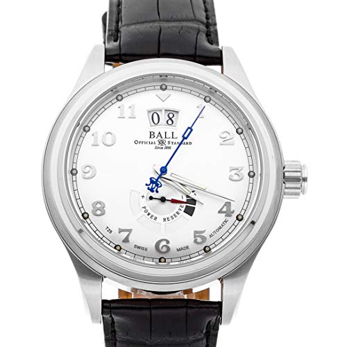(Ball Watch Company Trainmaster Mechanical (Automatic) Silver Dial Mens Watch PM1058D-LJ-SL (Certified Pre-Owned))