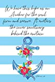We Have This Hope As An Anchor For The Soul Firm And Secure It Enters The Inner Sanctuary Behind The Curtain Hebrews 6:19: Watercolor Blank Lined Writing Journal & Bible Verses Study Journaling
