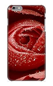 Inthebeauty Faddish Phone Dewy Red Rose Case For Iphone 6 Plus / Perfect Case Cover
