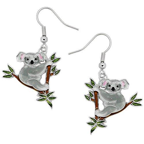 Liavy's Koala Bear Fashionable Earrings - Hand Painted - Fish Hook - Unique Gift and Souvenir ()