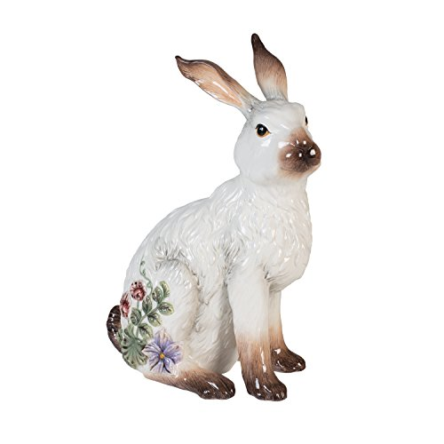 (Fitz and Floyd 21-018 Fattoria Ceramic Rabbit Figurine)