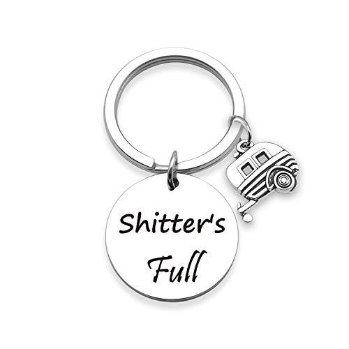 EIGSO Shitters Full Keychain Camper Keyring RV Keychain Camping Keychain Camping Lovers Gift Trailer Vacation Jewelry (Shitters Full Keychain) ...
