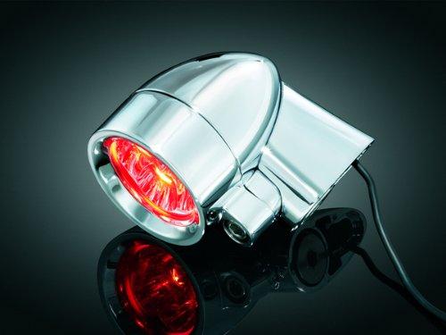 Kuryakyn Red LED Silver Bullets with Short Fender Strut Mount 1650 ()