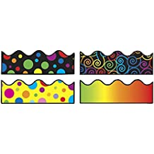"""Carson-Dellosa 144031 Scalloped Borders Variety Set IV, 2-1/4"""" x 3' Size (Pack of 4)"""