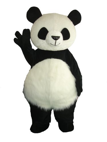 Long Hair Panda Bear Mascot Costume