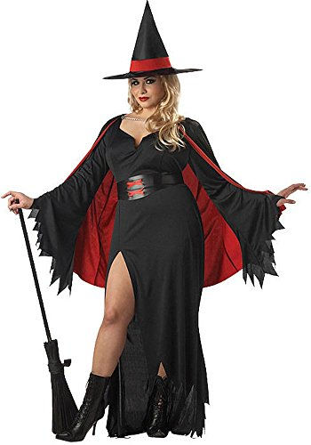 California Costumes Women's Scarlet Witch Costume – Black & Red, 1X -LARGE