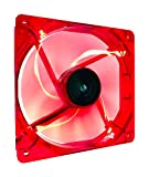 Apevia 14SL-RD 140mm 4pin+3pin Silent Red LED Case Fan, Connecting to Power Supply or Motherboard