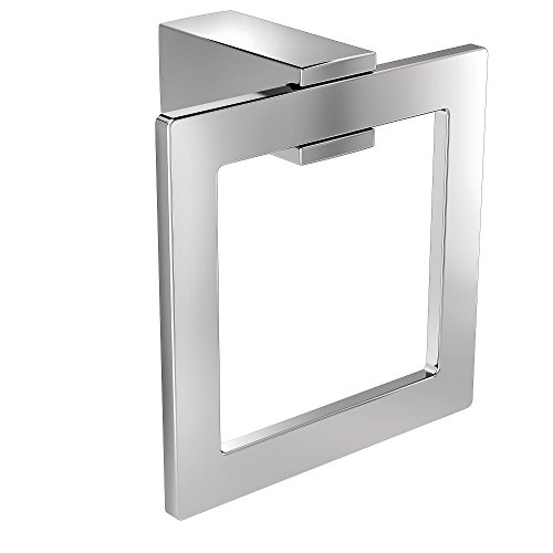 Moen BP3786CH Kyvos Collection Modern Bathroom Hand Towel Ring, -
