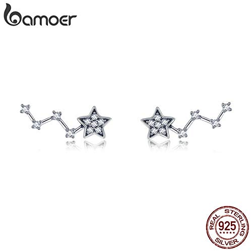 GXE175 Oseni Star Earrings Collection Solid Sterling Silver AAA Cubic Zirconia Stud Earrings for Women Korean Fashion Jewelry Gifts