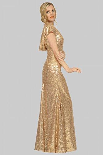 EDJ1753 de longitud espalda sin vestido Scoop SEXYHER de palabra de Oro escote formal noche damas honor qg6cPazw