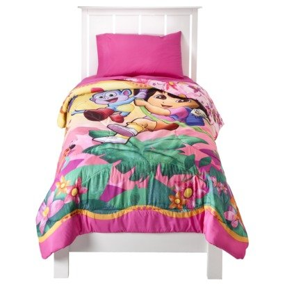 Dora the Explorer Microfiber Twin Comforter with Bonus Tote