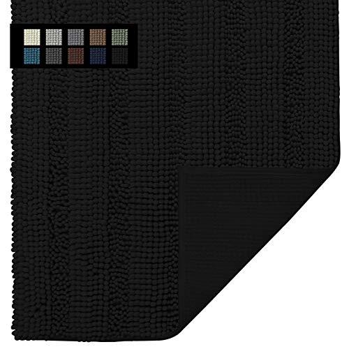Easy-Going Luxury Chenille Striped Pattern Bath Mat, 20×32 in, Soft Plush Bath Rug, Absorbent Bathroom Rug, Non Slip…