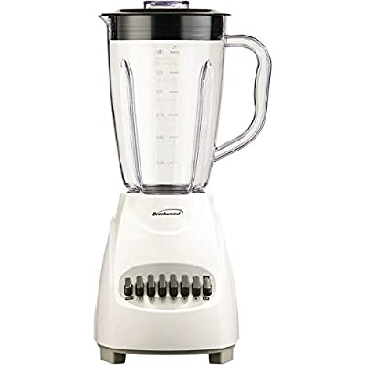 Brentwood Appliances Jb-220w 12-Speed Blender With Plastic Jar (white)