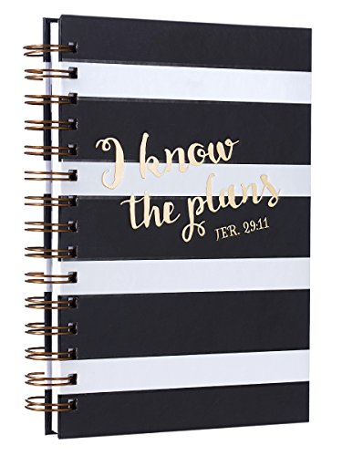Jeremiah 29:11 Black & White Hardcover Wirebound Journal
