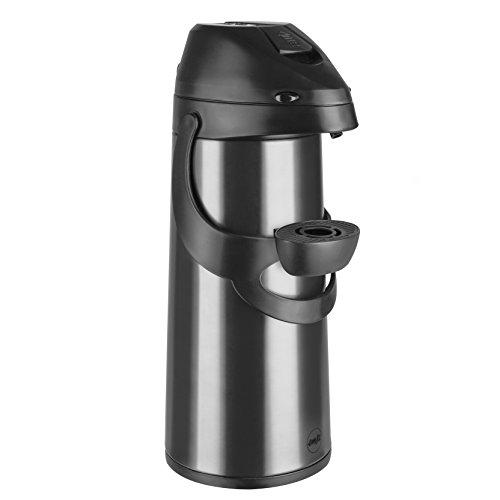 Emsa 502486 Pump-Isolierkanne, 1,9 Liter, Edelstahl, Anthrazit, Pronto