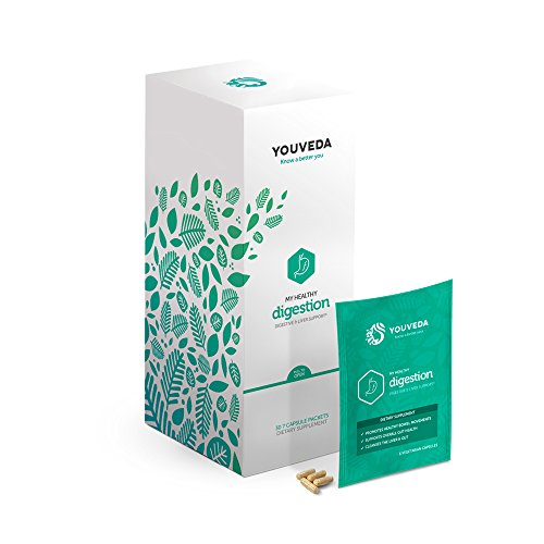 YouVeda – My Healthy Digestion|Premium Ayurvedic & Herbal Supplements & Mobile App|Convenient All in one Packet|30 Day Supply|Doctor Formulated|Liver Support|Supports Healthy Bowel (Ayurvedic Liver)