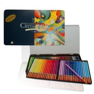 Cretacolor Artist Quality Aquarellith pencils Tin Of 72