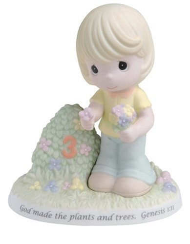 Precious Moments 3rd Year Child with Plants Figurine (Precious Moments Remembrance)