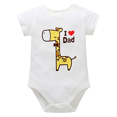 0-24M Yamally Newborn Baby Daddy Nana Letter Print Short Sleeve Romper Infant Summer -