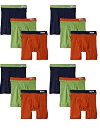 Fruit of the Loom 12-Pack Boys Assorted Boxer Briefs Underwear Covered Waistband