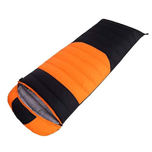 Huiit Sacco a Pelo da 15 Gradi Celsius con Sacco a Compressione per Escursioni in Campeggio per Adulti,arancia