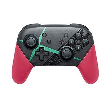 MeterMall Electronics para NS Switch Pro Splatoon2 Xenoblade Bluetooth inalámbrico Gamepad Mando a Distancia Joypad para Nintendo Switch Game Player ...