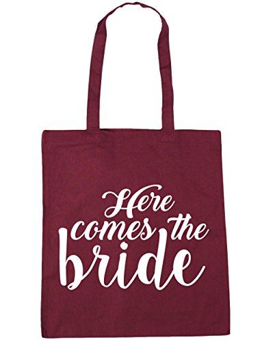 Here HippoWarehouse litres x38cm Shopping Beach Bag Burgundy bride comes 10 Gym 42cm the Tote 6qqnxw4B1d