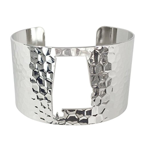 State Shape Map Cut-out Cuff Bracelet (Alabama Silver - Sunglasses Closeouts Clearance
