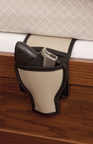 - Shark GunLeather Bed & Couch Gun Holster - Fits Medium & Large Frame Semi-autos (Ruger, Colt, Glock) and S&W Revolvers - Ambidextrous - Made in USA